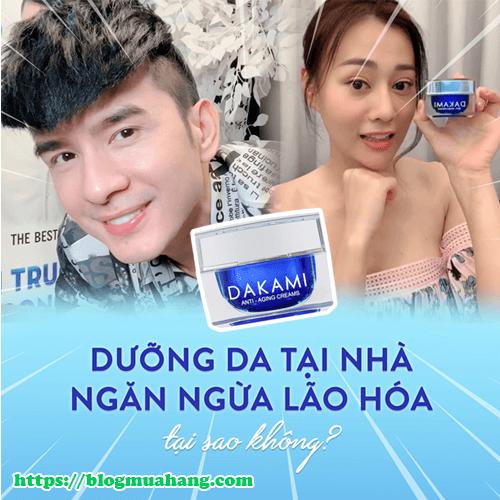Kem dưỡng da dakami giúp giảm thâm nám, tàn nhang và làm trắng sáng da