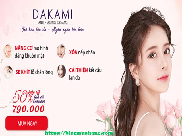 Kem dưỡng da Dakami giá bao nhiêu? Mua ở đâu?